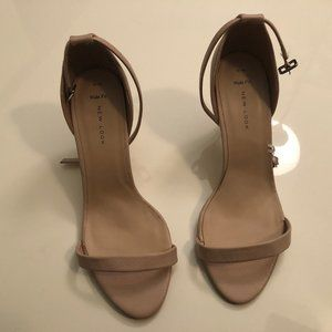 ASOS Wide Nude Pink Sandal - New Look